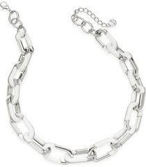 "alfani acrylic large link necklace, 20"" + 2"" extender, created for macy's"