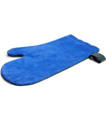 hay suede oven glove - blue