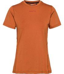 adv essence ss tee w t-shirts & tops short-sleeved orange craft