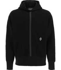 a-cold-wall textured jersey hooded sweatshirt