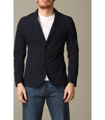 armani exchange blazer armani exchange jacket in textured cotton