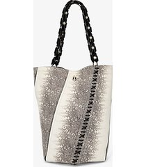 proenza schouler medium hex bucket bag roccia/grey one size