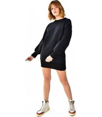 blusão brohood moletom vestido curto feminino - feminino