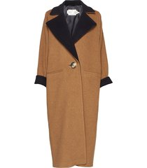 iw50 24 gwynethiw long coat outerwear coats wool coats bruin inwear