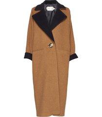 iw50 24 gwynethiw long coat wollen jas lange jas bruin inwear