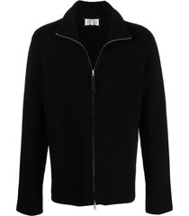 maison margiela black cotton-wool blend cardigan