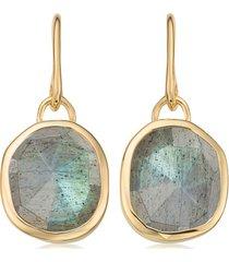 gold siren wire earrings labradorite