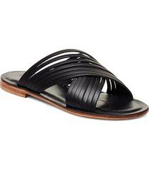 sahara shoes summer shoes flat sandals svart notabene
