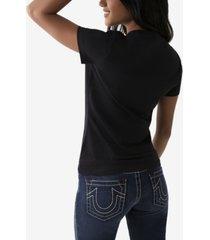 women's split foil logo short sleeve crewneck tee