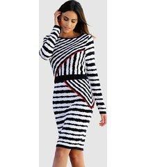 jurk alba moda marine::wit::rood