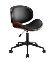 cadeira de escritório diretor giratória bergen preta
