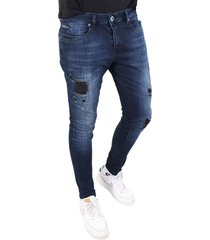 gabbiano ultimo d.blue destroyed jeans denim