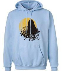 dark knight batman silhouette light blute hoodie s to 3xl