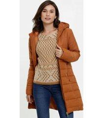 casaco feminino puffer alongado marisa