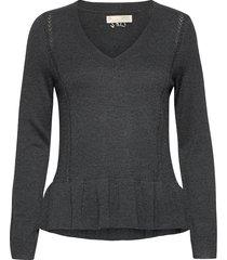 aurora sweater stickad tröja grå odd molly