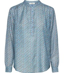 betty shirt blus långärmad blå nué notes
