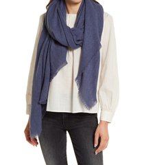 treasure & bond herringbone burlap scarf in blue vintage at nordstrom