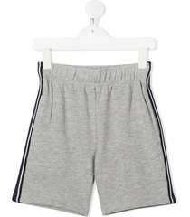 molo axon side stripe panel shorts - grey