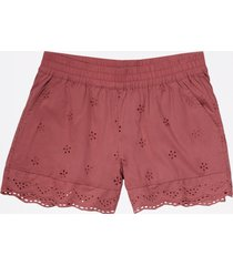 maurices womens pull on eyelet 3.5in shorts red