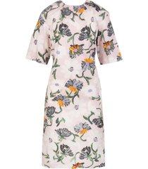floral-print mid-length dress