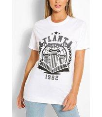 atlanta collegiate t-shirt, white