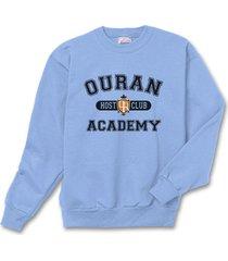 ouran host club academy crewneck sweatshirt  s-3xl carolina blue/lightblue