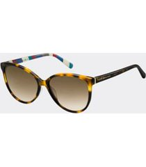 tommy hilfiger women's classic sunglasses dark havana -