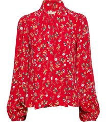 bow blouse blouse lange mouwen rood by ti mo