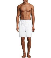 calvin klein swim men's drawstring swim shorts - high risk red - size l