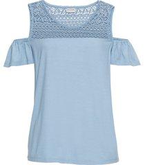 maglia in jersey con spalle scoperte (blu) - bodyflirt