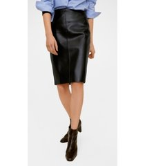mango faux leather pencil skirt
