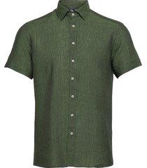 8823 - iver c st trim kortärmad skjorta grön sand