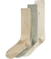 polo ralph lauren men's three-pack crew socks