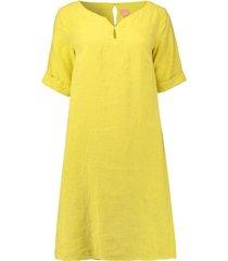 jurk linen solid lime
