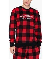 calvin klein underwear l/s sweatshirt sovplagg red