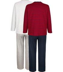 pyjamas g gregory 1 röd/marinblå, 1 gråmelerad