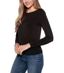 belldini black label long sleeve blouson top