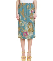 dries van noten midi skirt in jacquard fabric