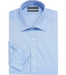 solid twill cotton dress shirt