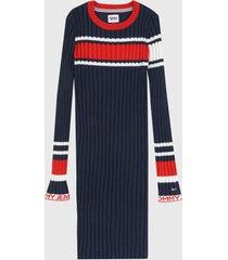 vestido azul navy-rojo-blanco tommy jeans
