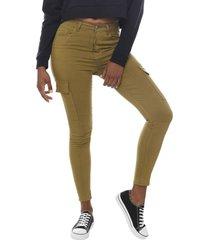 jeans cargo básico kaki  corona