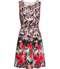 abito leopardato con fiori (marrone) - bodyflirt boutique