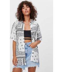 blouse met paisleyprint