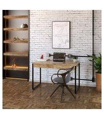 mesa de escritório kuadra 2 gv carvalho 120 cm