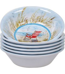 certified international ocean view melamine 6-pc. all purpose bowl set