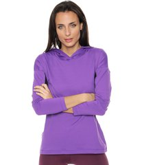 buzo violeta darling sport buzo combinado con capucha