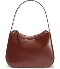 'kiki' semi patent leather shoulder bag