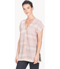 lilla p double v-neck tunic