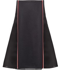prada gazar mesh skirt - black