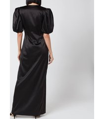de la vali women's ohio dress - black solid - uk 12